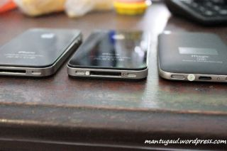 Ketebalan iPhone 4 asli, iPhone 4 palsu, Nexian Magic