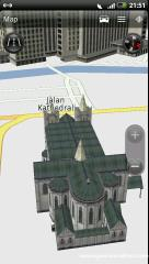 HTC Navigation with 3D building