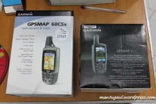 Kotak GPSMAP 60csx vs GPSMAP 62sc