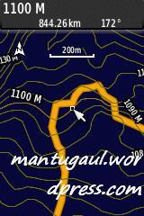 Peta topografi + navnet