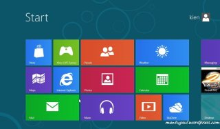 Homescreen Windows 8