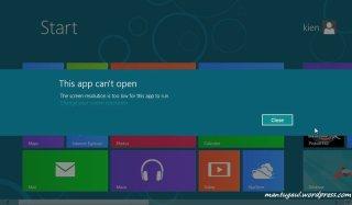 Windows 8 butuh 1024x768, Axioo CJW ini hanya 1024x600