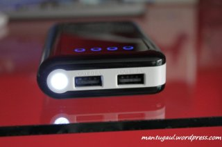 LED dinyalakan, tekan power 2x