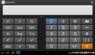 Calculator landscape jadi scientific calc