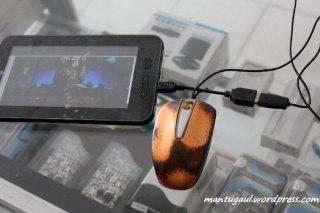 Pasang mouse dengan USB OTG