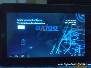 Welcome screen ICS