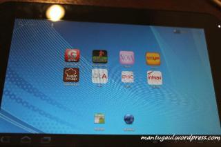 Homescreen banyak aplikasi lokal khusus toshiba