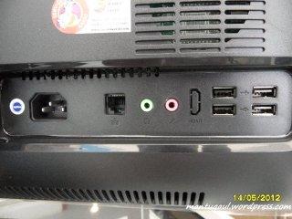 Konektor di belakang PC