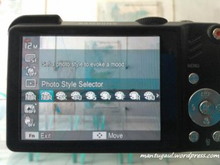 Function (Fn) photo style selector