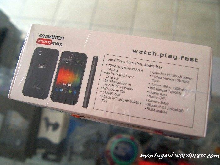 Review Ponsel Smartfren Andro Max, Android ICS CDMA Termurah (5/6)
