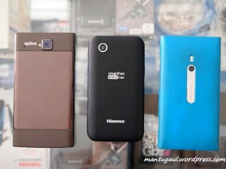 Axioo vigo 410 vs Smartfren E860 vs Nokia Lumia 800
