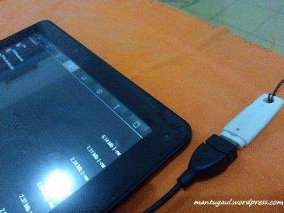 Coba USB OTG dengan flashdisk