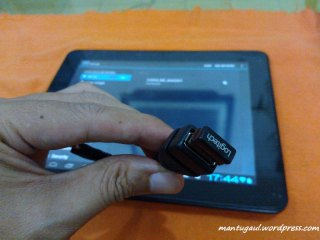 Coba USB OTG dengan Mouse wireless