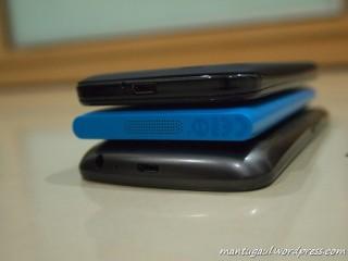 Perbandingan dengan Lumia dan Galaxy Nexus