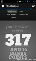 Browser bawaan, test html5