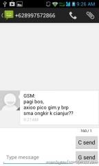 SMS bisa milih