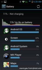 Baterai status