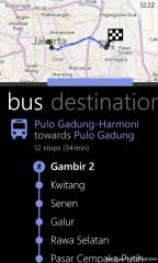 Halte bus yang dilalui