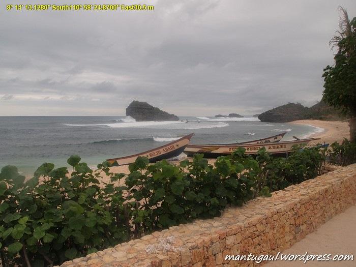 Pemandangan dari resort Istana Ombak