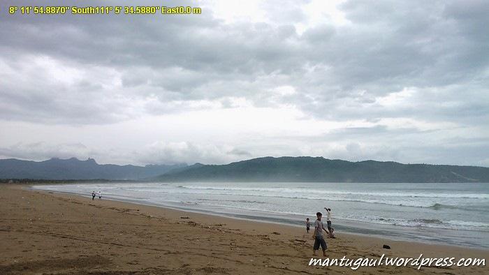 Pantai Teleng Ria sore hari