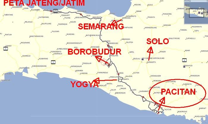 Posisi Pacitan di Pulau Jawa