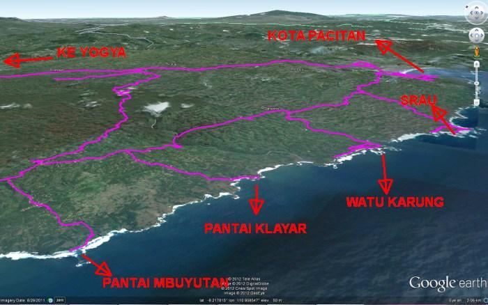Peta satelit pacitan