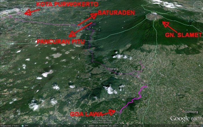 Peta Wisata Baturaden