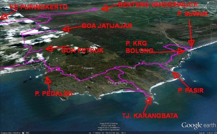 Peta Wisata Kabupaten Kebumen