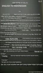 Contoh berikut terjemahkan Inggris ke Indonesia