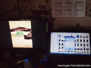 Coba konek sama laptop windows 8, tinggal klik kanan pada file yang diinginkan lalu share