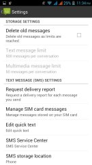 SMS setting