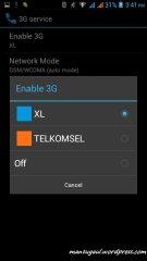 Pilih koneksi 3G mana