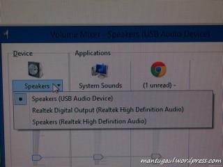 Tancap di PC akan muncul USB speakers