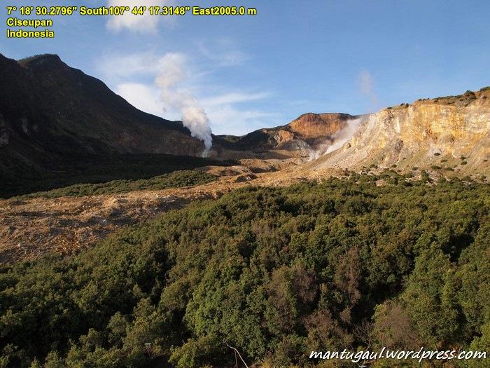 Pemandangan di sekitar Gunung Papandayan