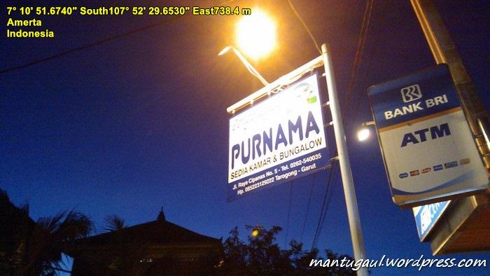 Sampai di Garut langsung ke daerah Cipanas Garut, nginap di Hotel Purnama Rp150.000 (pakai nawar2) hehehe