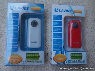 Lavios Powerbank, putih:5600, merah:5200
