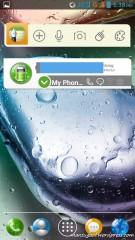 Homescreen dengan widget