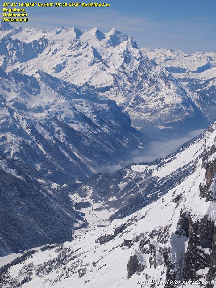Pemandangan dari puncak Titlis