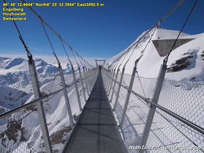 Jembatan gantung diatas puncak Titlis