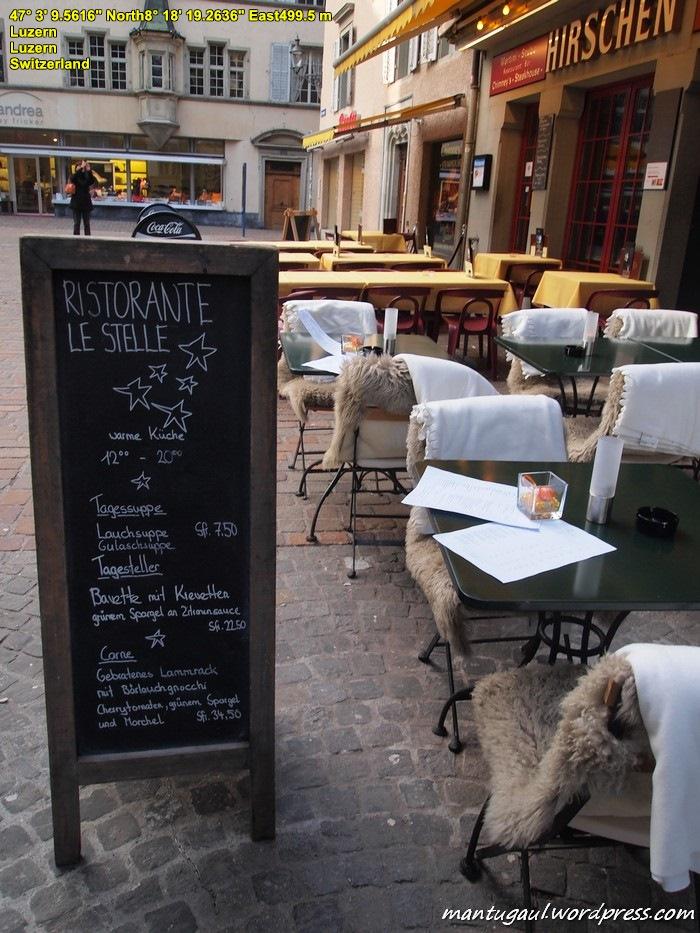 Kafe di lorong-lorong Kota Lucerne