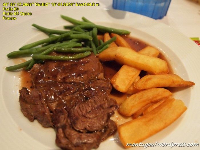 Steak ala paris
