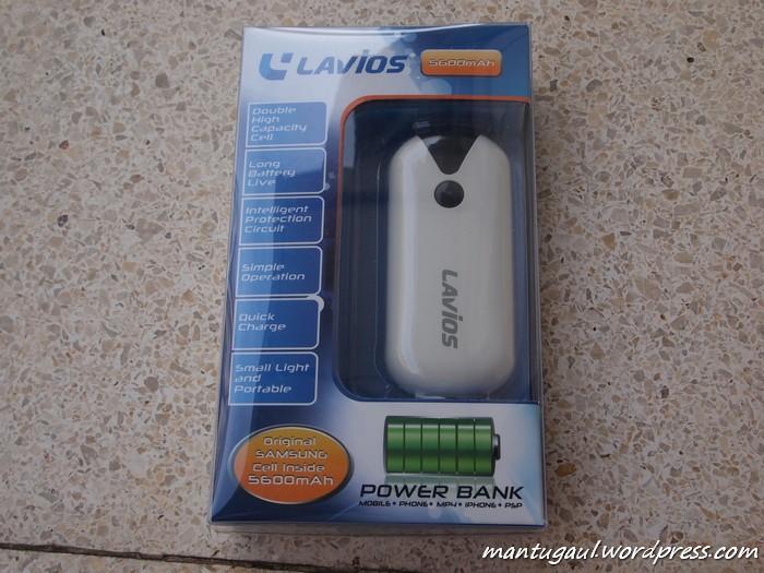 Kotak powerbank Lavios 5600 PB-526A
