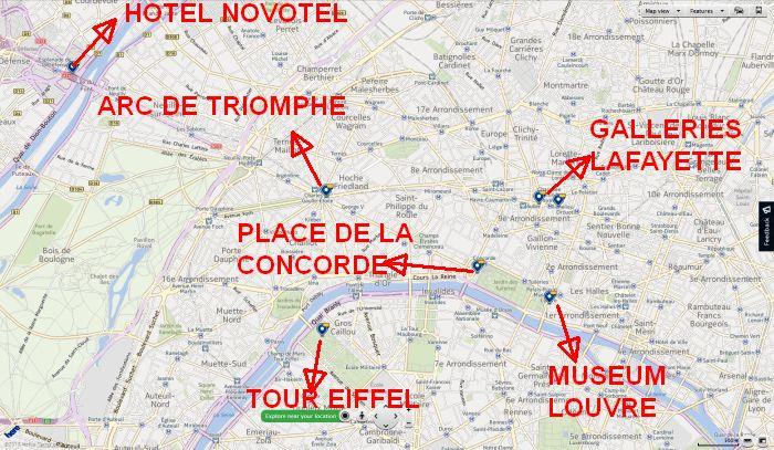 Peta Kota Paris