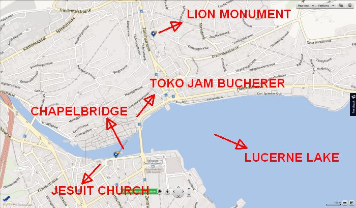 Peta Kota Lucerne