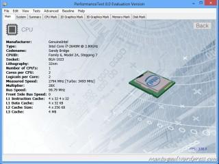Performance Test 8 CPU Info