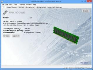 Performance Test 8 Memory Info