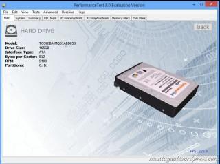 Performance Test 8 Disk Info