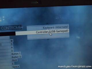 Aktifkan controller di dalam game options