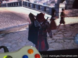 Main game Assassins Creed Brotherhood pakai controller XBOX 360