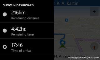 Mengubah info Dashboard